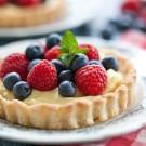 Red, White and Blueberry Tarts - Vanilla Cream Recipe
