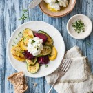 Grilled Summer Vegetable with Fresh Herbs and Goat Cheese Recipe