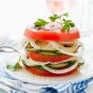 Return to Sunday Supper - Marinated Cucumber, Tomato and Onion Salad