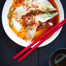 Homemade Shrimp Wontons with Spicy Sauce Recipe