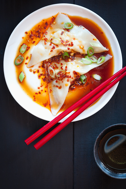 Homemade Shrimp Wontons with Spicy Sauce Recipe for Chinese New Year