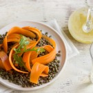 Warm French Lentil Salad with Carrots and Arugula Recipe